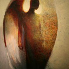 Dramatically Luminating Golden Angels - artist Steven Daluz