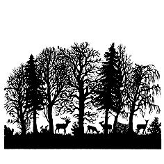 scherrenschnitte - love this paper-cutting art form Silhouette Tattoos, Silhouette Vector, Silhouette Cameo, Kirigami, Forest Silhouette, Forest Tattoos, Shadow Puppets, Animal Projects, Black N White Images