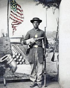 8 by 10 Civil War Photo Print African American Soldier | eBay