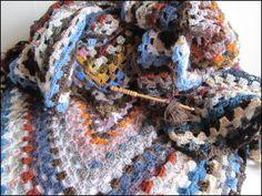 Nice colours for crocheted blanket.