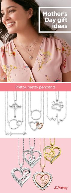 """Nothing says """"I love you, Mom"""" quite like  fine jewelry—especially a beautiful diamond heart pendant. JCPenney has affordable Mother's Day gifts  your mom is sure to love. Shop our assortment of diamond pendants in store or online for quality jewelry pieces that remind Mom just how much she means to you—Mother's Day and always."""