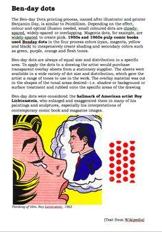 lesson plan for lichtenstein/benday dot pop portrait