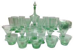 Custom Italian Glass Set, 45 Pcs