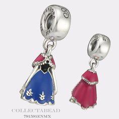 Authentic Pandora Silver Enamel Dangle Disney Anna Dress Bead 791591ENMX in Jewelry & Watches, Fashion Jewelry, Charms & Charm Bracelets | eBay
