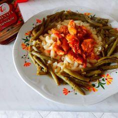 @taotao_harmoniasmakow  #taotao #zawszesmacznie  makaron z mięsem drobiowym w marynacie oraz fasolka  szparagowa