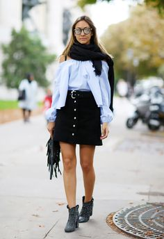 Mandatory Credit: Photo by Silvia Olsen/REX/Shutterstock (5304361k) Street Style Paris fashion Week SS16 Street Style, Spring Summer 2016, Paris Fashion Week, France - 07 Oct 2015