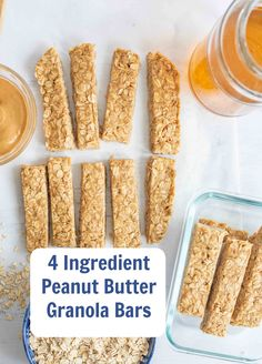 4 Ingredient Peanut Butter Honey Granola Bars are an easy snack for on-the-go adventures, and pair perfectly with delicious Horizon Organic DHA milk boxes! Granola Bars Peanut Butter, Healthy Granola Bars, Homemade Granola Bars, Creamy Peanut Butter, Organic Granola Bar Recipe, Baby Food Recipes, Snack Recipes, Toddler Recipes, Toddler Snacks