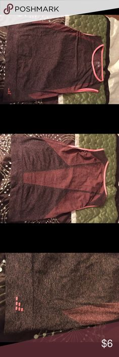 BCG workout tank, NWOT BCG workout tank, NWOT, never worn, very soft, black and coral BCG Tops Muscle Tees