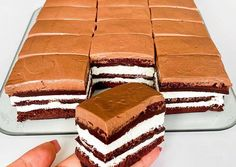 Sweet Desserts, Delicious Desserts, Chocolate Mousse Cake, Chocolate Frosting, Cake Bars, Hungarian Recipes, Pastry Cake, Gluten Free Desserts, Diabetic Recipes