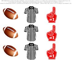 free-football-tailgater-printables-cupcake-toppers.jpg 1,000×828 pixeles