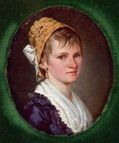 Bildnis einer jungen Frau mit Goldhaube by Barbara Steiner Krafft