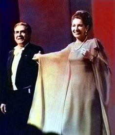 Giuseppe Di Stefano e Maria Callas