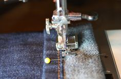 Sew Much Ado: Tutorial: How to Hem Jeans {And Keep The Original Hem}