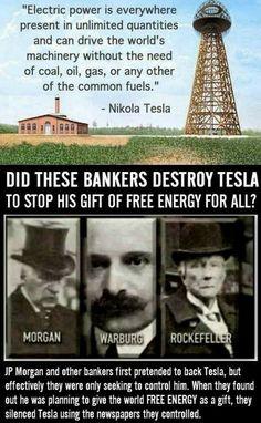 Tesla's free energy