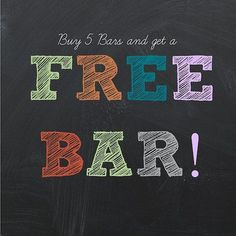 Did you know? You buy 5 bars and the 6th is free?!