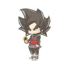 Chibi black by jrpencil Anime Chibi, Kawaii Anime, Otaku Anime, Anime Art, Dragon Ball Gt, Dragonball Goku, Akira, Black Goku, Chibi Characters