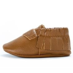 25432fe0 BirdRock Baby - Classic Brown Genuine Leather Baby Moccasins