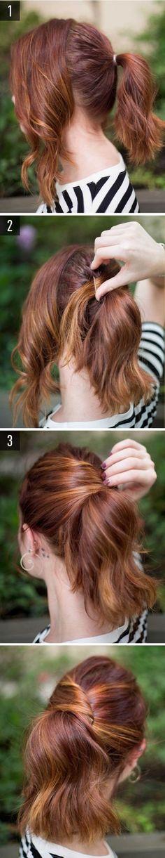 peinado paso a paso para cabello medio largo                                                                                                                                                                                 Más