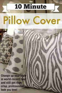 How To Make A 10 Minute DIY Throw Pillow | Simple & Easy Sewing Tutorial For Your Next Home Decor Project By DIY Ready. http://diyready.com/diy-pillow-ideas/
