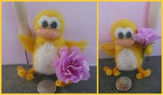 Needle Felted 'Quack the yellow duck' by Tinascraftsforyou, Needle Felting Supplies, Creative Gifts, Craft Gifts, Handmade Crafts, Yellow, Stuff To Buy, Gift Ideas, Etsy, Unique