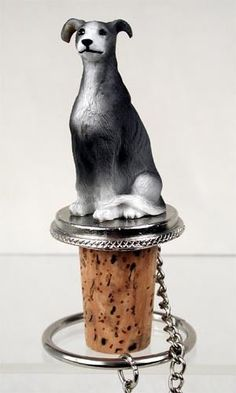 Shop for blue Greyhound sitting on top of a unique, decorative, wine cork bottle stopper. Fits a standard size wine or champagne bottle. Wine Making Supplies, Wine Making Kits, Wine Making Equipment, Wine Making Process, Wine Bottle Stoppers, Blue Bottle, Hand Painted, Cool Stuff, Bar Tools