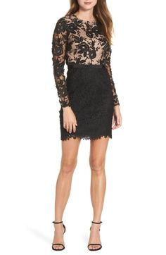 ML Monique Lhuillier Calypso Lace Sheath Dress available at #Nordstrom