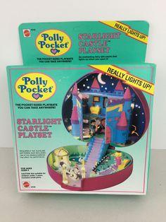 Vintage NEW 1992 Polly Pocket Light UP Starlight Castle Bluebird Unopened Mattel Mattel Dolls, Doll Toys, Polly Pocket World, Best Of 80s, Pocket Light, Dolls For Sale, 90s Kids, Blue Bird, Light Up