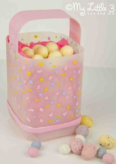 Easter Basket made from a milk jug :)