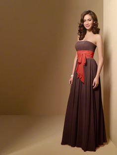Orange And Brown Bridesmaid Dresses 116
