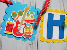 Music Birthday Banner Music Party Decorations Music Party