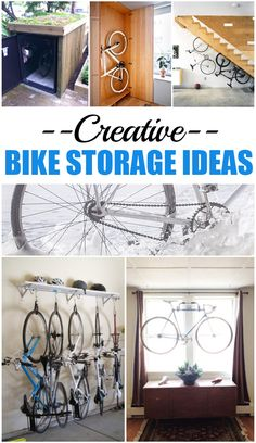 Creative Bike Storage Ideas.  How to store and organize your bikes.