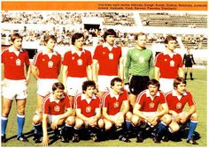 EQUIPOS DE FÚTBOL: SELECCIÓN DE CHECOSLOVAQUIA contra Alemania Federal 11/06/1980