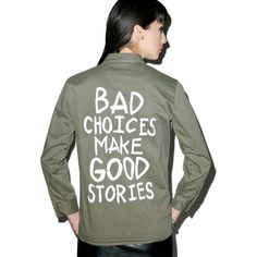 0cbcc2adf17006 Jac Vanek Bad Choices Vintage Army Jacket ( 88) ❤ liked on Polyvore  featuring outerwear