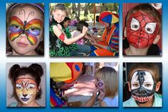 Face Painters can add a touch of colorful fun and charm to any event.  From a beautiful butterfly to a fire breathing dragon, our face painters will turn your face into a modern piece of art!