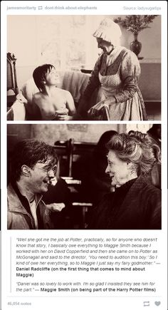 Daniel Radcliffe and Maggie Smith