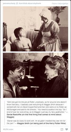 Daniel Radcliffe on Maggie Smith