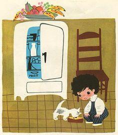 Vintage Illustrations Mary Blair I have this book! Loved the illustrations as a child! Mary Blair, Illustrations Vintage, Illustrations Posters, Vintage Children's Books, Children's Book Illustration, Digital Illustration, Vintage Disney, Modern Graphic Design, Disney Art