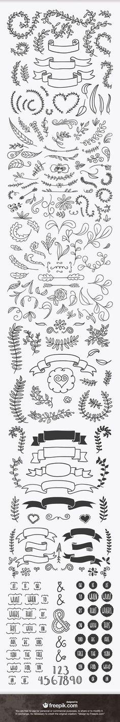 ever handsketched free vector elements Doodles for bullet journal.Doodles for bullet journal. How To Draw Ribbon, Bibel Journal, Chalkboard Art, Bullet Journal Inspiration, Doodle Inspiration, Doodle Ideas, Doodle Art, Journal Ideas, Creative Inspiration