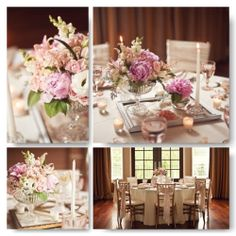 Soft pink mood board with a vintage yet classical twist.