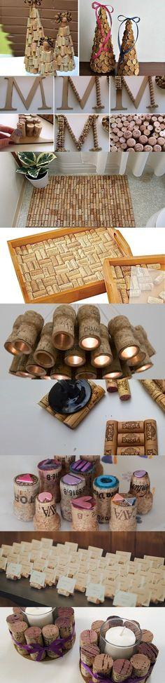 10 Ideas para decorar con corchos https://www.vinetur.com/2015052719580/10-ideas-para-decorar-con-corchos.html
