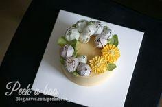 butter cream cake/ flower cake/ caramel cake/플라워 케이크/ 피카부