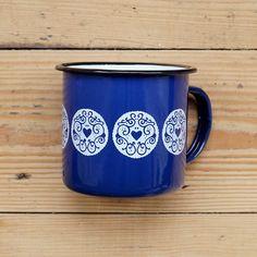 d4752cca0cdd Jammy Heart Enamel Mug - Sapphire Blue – Nikki McWilliams Recipe Tips