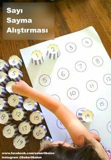 22 Handmade Learning Games & Toys for Kids - Handmade Number Matching Activity . - 22 Handmade Learning Games & Toys for Kids – Handmade Number Matching Activity Game – 22 Handmade Learning Games & Toys for Kids – Big DIY IDeas Toddler Learning, Learning Games, Early Learning, Diy Learning Toys, Learning Process, Playing Games, Learning Spanish, Preschool Math, Toddler Activities
