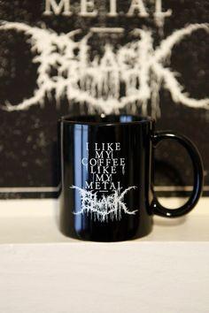 Metall-Kaffee-Haferl  Black