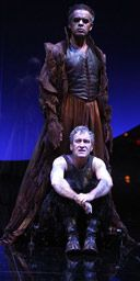 Peter de Jersey (Oberon) and Mark Hadfield (Puck) in A Midsummer Nights Dream, Courtyard Theatre, Stratford-upon-Avon