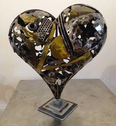 Steel heart sculpture 2013