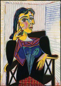 Pablo Picasso, Portrait of Dora Maar, 1937, Oil on canvas, Musée National Picasso, Paris. Née en 1907 à Paris d'une mère tourangelle naturalisée croate, Louise Julie Voisin, mariée à Trsat (Croatie), en 1903, à l'architecte croate de Zagreb, Josip Markovitch,...