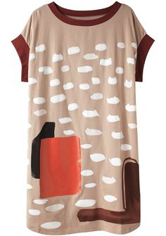TSUMORI CHISATO /  CLOUD CAT PRINT DRESS