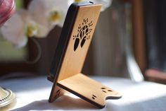 Wood iPhone Stand  iPhone 4 4S 5 by ideasinwood on Etsy, $25.00