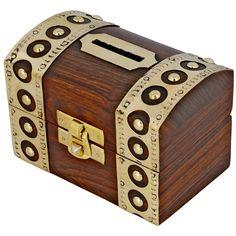 Tirelire design coffre fort - Boite en bois pour économiser l'argent - Ouverture/Fermeture facile: Amazon.fr: Jeux et Jouets